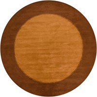 Chandra Metro Patterned Round Contemporary Area Rug Brown Light Brown