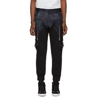 Faith Connexion Black And Navy Patrol Camo Cargo Pants