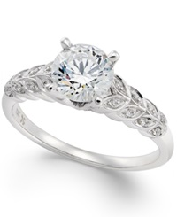 Macy's Certified Diamond Engagement Ring 1 1 10 Ct. T.W. In 18K White Gold