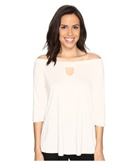 Brigitte Bailey Kennedy Off The Shoulder Keyhole Top Ivory Women's Clothing White