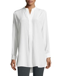 Joseph Dara Long Sleeve Silk Blouse Off White