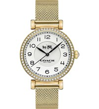 Coach Stone Set Gold Plated Watch