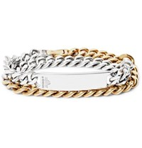 Bunney Gold Dipped Sterling Silver Id Wrap Bracelet