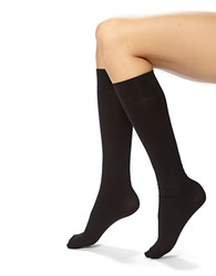 Hue Ribbed Knee Hi Socks Black