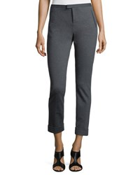 Atm Anthony Thomas Melillo Ponte Slim Cuffed Ankle Pants Charcoal