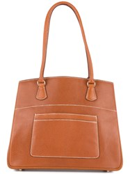 Hermes Vintage La Shoulder Bag Brown