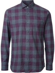 Kent And Curwen Gingham Check Shirt Pink Purple