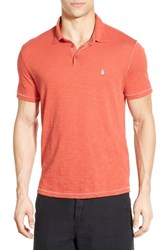 Men's John Varvatos Star Usa Trim Fit Peace Sign Polo Brick Red