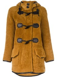 Coach Hooded Coat Brown