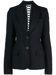 Vera Wang Lace Up Back Detail Blazer Black