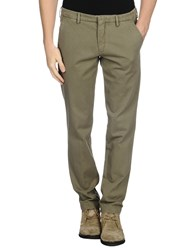 Manuel Ritz White Trousers Casual Trousers Men Military Green