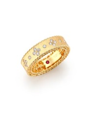 Roberto Coin Princess Diamond And 18K Yellow Gold Band Ring