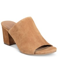 Kenneth Cole Reaction Women's Mass Ter Mind Peep Toe Mules Women's Shoes Umber