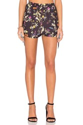 Oh My Love Ruched Side Shorts Black