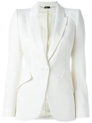 Alexander Mcqueen Fitted Blazer Nude And Neutrals