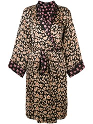 Love Stories Floral Print Robe Neutrals