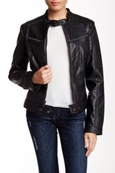 Rachel By Rachel Roy Pleather Moto Jacket Black