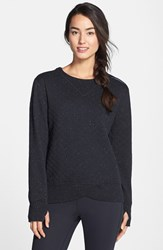 Women's Brooks 'Fly By' Quilted Running Sweatshirt Black Asphalt