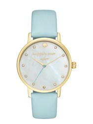Kate Spade Happily Ever After Metro Watch Mint Splash Gold