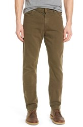 Raleigh Denim Men's 'Alexander' Straight Leg Jeans Hunter Green