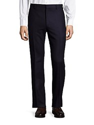 Ralph Lauren Solid Flannel Wool Pants Navy