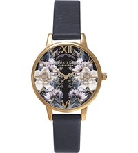 Olivia Burton Ob15ex74 Gold Plated Floral Watch