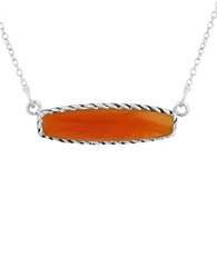 Lord And Taylor Healing Bar Pendants Carnelian And Sterling Silver Pendant Necklace Orange
