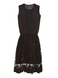Loyd Ford Multi Embroidery Lace Dress