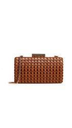 Inge Christopher Thelma Woven Minaudiere Brown