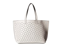 Echo Sunflower Laser Cut Essex Tote White Silver Tote Handbags