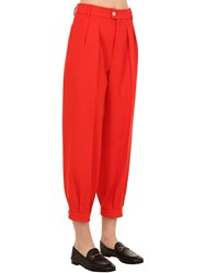Gucci Wool Natte Pants Red