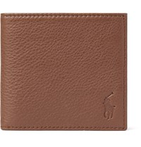 Polo Ralph Lauren Grained Leather Billfold Wallet Brown