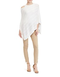 Lauren Ralph Lauren Cable Knit Poncho White
