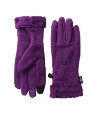 Outdoor Research Fuzzy Sensor Gloves Orchid Extreme Cold Weather Gloves Purple