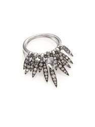 Alexis Bittar Fine Fine Ice Marquis Clear Quartz White Sapphire And Sterling Silver Drop Fringe Ring