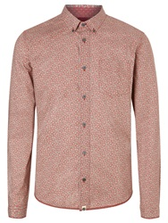 Pretty Green Floral Dot Shirt Red