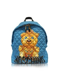 Moschino Teddy Bear Blue Nylon Backpack