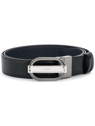 Bally Oval Buckle Belt Black
