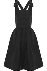 Ulla Johnson Madi Cotton And Linen Blend Twill Dress Black