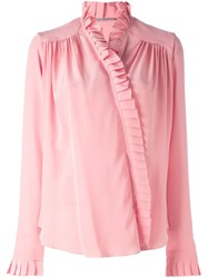 Ermanno Scervino Frill Detail Blouse Pink And Purple