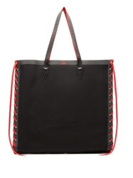 Christian Louboutin Cabalace Oversized Canvas Tote Bag Black Red