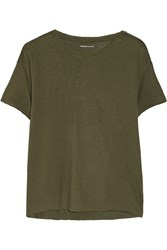 Majestic Modal And Cashmere Blend T Shirt Green