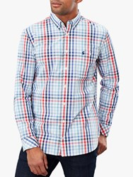 Joules Hewney Classic Fit Shirt Red Blue Check