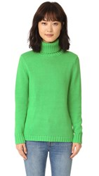 525 America Turtleneck Sweater Emerald
