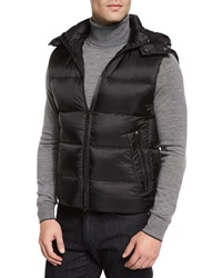 Michael Kors Lightweight Nylon Down Vest Black