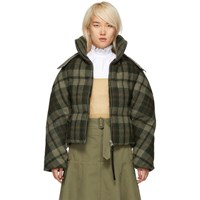 J.W.Anderson Jw Anderson Green Down Cropped Puffer Jacket