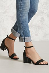 Forever 21 Faux Leather Ankle Strap Heels