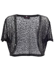 Ariella Vera Sequin And Bead Bolero Black