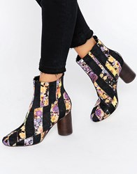 Asos Rattle Patch Work Ankle Boots Black