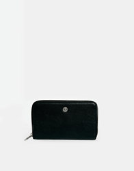 Fred Perry Zip Top Purse With Polka Dot Lining Black